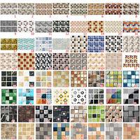 64 styles Mosaic Self-adhesive Bathroom Kitchen Decor Home Wall 3D Tile Sticker