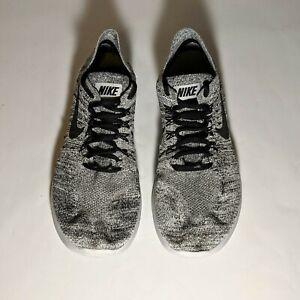 SWEET Nike Free RN Flyknit - 880843-101 - Gray Black - Mens - Size 8 US