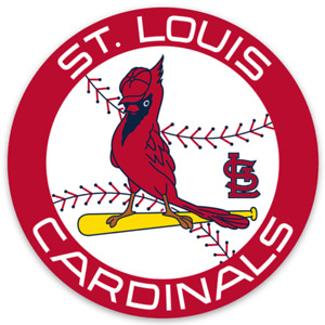 Saint Louis Cardinals Classic Logo Type w/ cardinal Round Die-Cut MAGNET