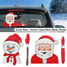 Rear Window Windshield Wiper Santa Claus Snowman Car Sticker Decals Christmas