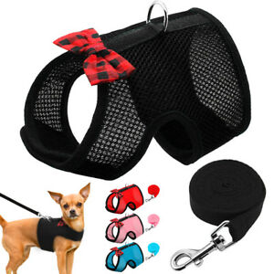 Breathable Mesh Small Dog Harness & Leash Pet Puppy Cat Vest Chihuahua Yorkie