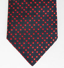 Black tie with bright red squares check pattern C&A vintage 1990s