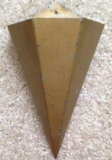 "ANTIQUE TIN METAL FIRE MATCH HOLDER WALL POCKET, 6 SIDED, 9"", PRIMITIVE, VINTAGE"