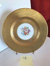 Royal Bavarian Hutschenreuther Selb 22K Gold Floral Dinner Cabinet Plate 4