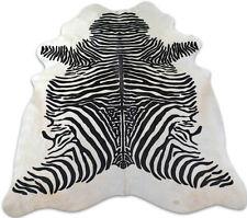 Zebra Print Cowhide Rugs ~7 x 6 Zebra Print Cowhides from Brazil