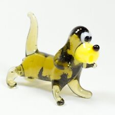 Glass figurine Basset Hound. Murano Glass Dollhouse miniature dog. Video