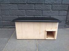 Hedgehog House Wooden Roof Nature Hibernation Box Shelter Home Nest Garden Life