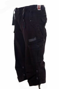 New Men's 3/4 Quarter Length Shorts Stone Black with balt Combat Shorts Size