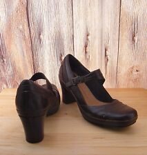 Clarks Artisan Active Air Heels 8.5 N Mary Jane Brown Leather Pumps