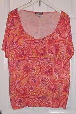 PRETTY TOP IN PINKS & ORANGES SIZE 22-24