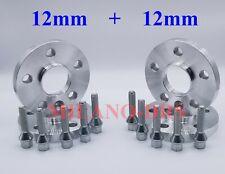12MM-hub centric distanziali cerchi in lega per Bmw Serie 3//4 5x120 72.6 Shim 2DX