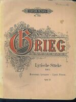 GRIEG - Lyrische Stücke Heft 1 Op. 12