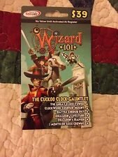 new Wizard 101 CUCKOO CLOCK GAUNTLET BUNDLE Card pet CROWNS Courser Mount Pet