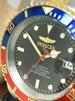 Invicta Men's Watch 29180 Pro Diver Automatic Black Dial Pepsi Bezel Two Tone