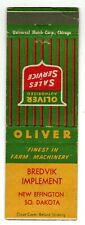 OLIVER FARM MACHINERY matchcover matchbook - TRACTOR - NEW EFFINGTON, SD