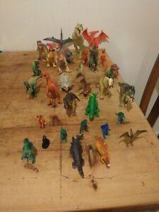 Job Lot Of 33 Dinosaur Figures