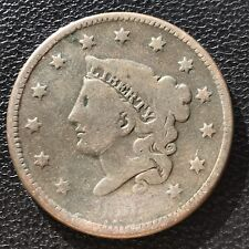 1836 Large Cent Coronet Head One Cent 1c #7002