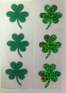Iron On, Heat Transfer Stickers 6  Irish Shamrock  for Masks, Tee Shirts
