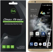 [2-Pack] Dmax Armor Full Screen Coverage Clear Screen 00000F95  Protector for Zte Axon 7