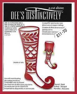 PRETTY PIXIE STOCKING #3 DIE Dee's Distinctively RETIRED 2012 Unused rrp £11.50