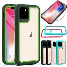 For iPhone 11/11 Pro/11 Pro Max Hybrid Bumper Protective Case Armor Rubber Cover