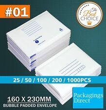 Bubble Mailer 01 160 X 230mm Padded Bag Envelope 25 50 100 200 500