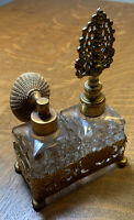 Vintage Perfume Bottles With Flower Filigree Holder