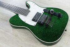 ESP LTD SCT-607 Baritone Stephen Carpenter 7-String Guitar Green Sparkle w/ Case
