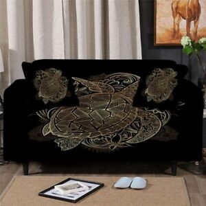 Floral Turtle Animal Sofa Chair Couch Cushion Stretch Cover Slipcover Set Decor
