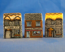 Birchcroft Thimbles -- Set of Three -- Miniature House Shape - Thimbles