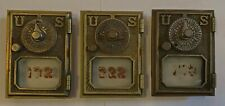 3 Brass U.S. Post Office Box Doors
