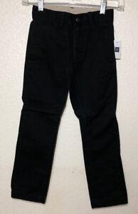 NWT Gap Kids Chino Flat Front Black Pants Size 5 Regular