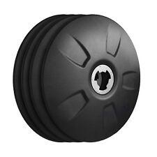 "FlowBelow Aero Wheel Cover Kit, 4 Black Adjustable 22.5"" Hub Caps DUALS"