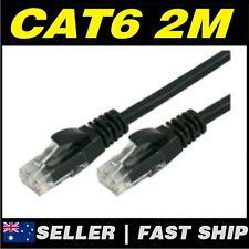 1 x 2m Black Cat 6 Cat6 1000Mbps Premium RJ45 Ethernet Network LAN Patch Cable