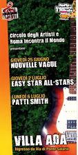 Patty Smith original italian flyer 10 x 20 cm ROMA Circolo Degli Artisti rock