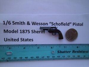 "F3     1/6 Smith & Wesson ""Schofield"" Pistol Model 1875 Sheriff United States"