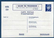 """Cover / entier """" salon du prisonnier """" Noël 1941 2 scans réf B170"""