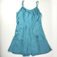 Vintage Victoria's Secret 100% Silk Lingerie Nighty Slip Short Dress size M