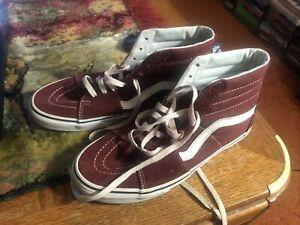 Vans Skate Shoes High Tops 721356 Burgundy Men's Size 8.5 / Women's Size 10