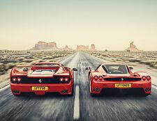 Ferrari voitures A4 260GSM print poster