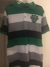 RED APE MENS PULLOVER POLO / RUGBY SHIRT Green White Black Sz M Nice