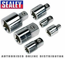 "Sealey 6 Piece Socket Wrench Adaptor Converter Reducer Set 1/4"" 3/8"" 1/2"" AK2736"