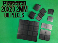 20mm 20X20mm 2mm plastic square miniature bases Warhammer BUY 2 PACKS GET 1 FREE