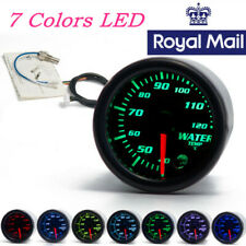 "UK Stock Car SUV 7 Color LED 2"" 52mm Water Coolant Temperature Meter Gauge DC12V"
