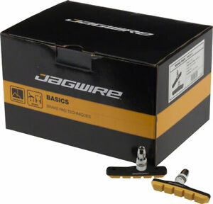 Jagwire Mountain Sport V-Brake Pads Threaded Post Box of 25 Pairs Yellow Molded