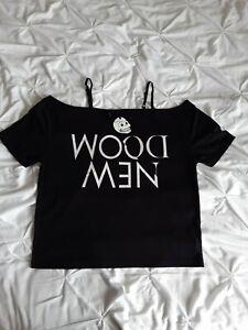 Cheap Monday Woman Black & White T Shirt Size S New Fits M/L