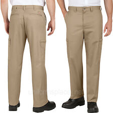 Men Dickies Work Pants Industrial Relaxed Fit Cotton Cargo Pockets Pant LP337