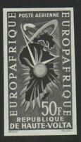 French Upper Volta 1962 Air afrique 50f Black imperf Proof NHM