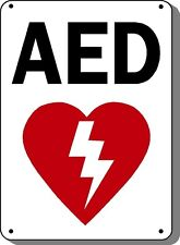 "AED Sign - 10"" x 14"" OSHA Safety Sign"