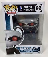 Funko Pop! DC Comics Super Heroes BLACK MANTA #92 Vinyl Figure Vaulted New